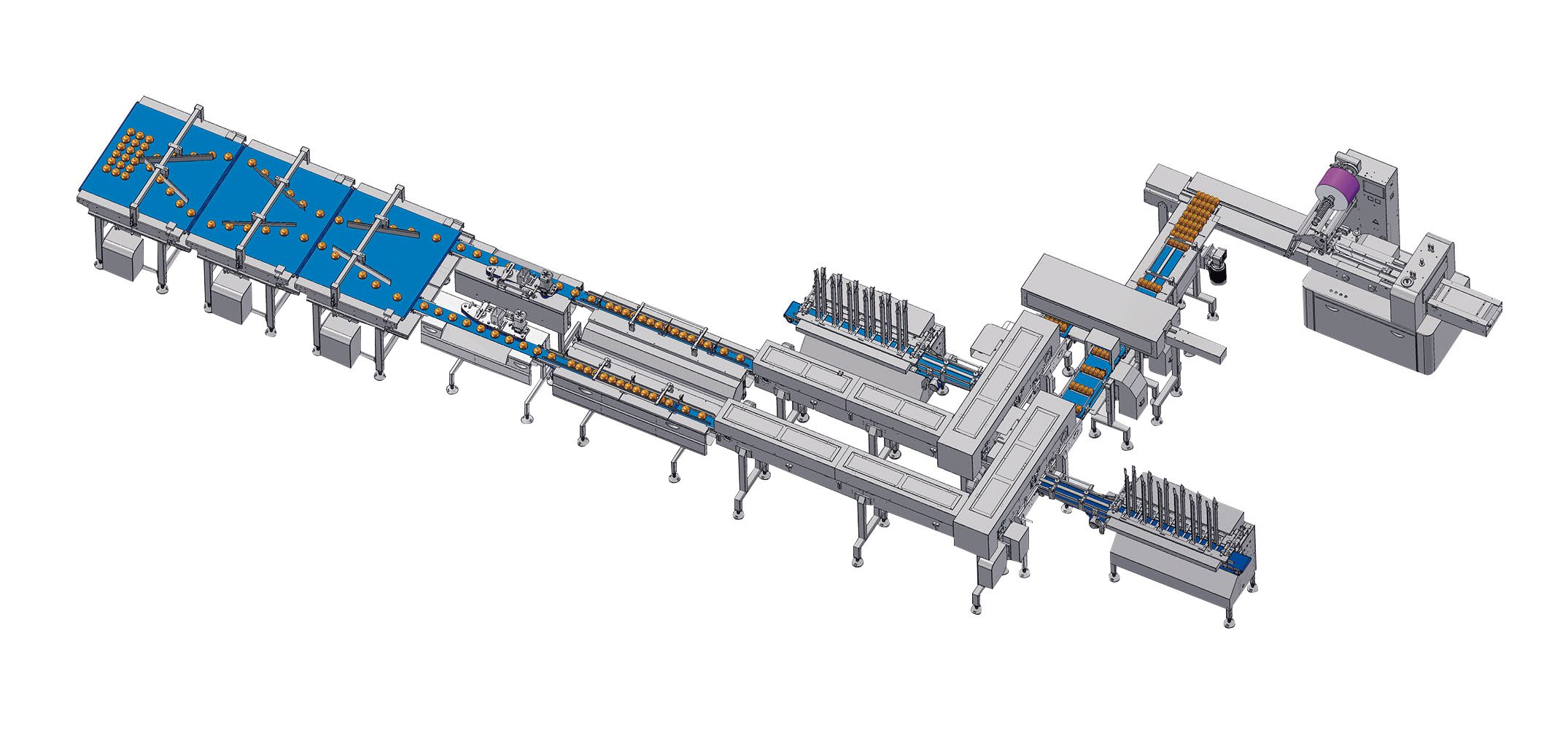 Automatic group packaging solution with tray loading unit