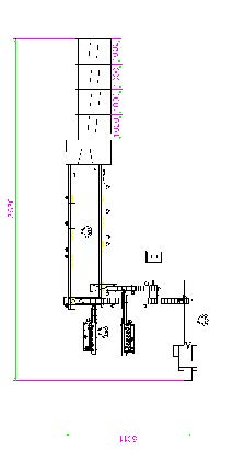 Drawing of automatic group packaging solution with tray loading unit