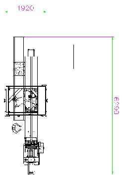 autoamtic robot and packaging machine drawing