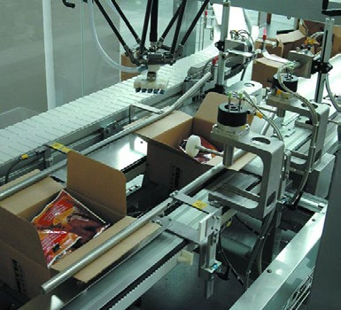 automatic robot and packaging machine for carton