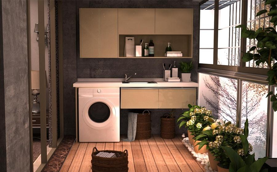 Fadior Stainless Steel Laundry Cabinet - BSYT05