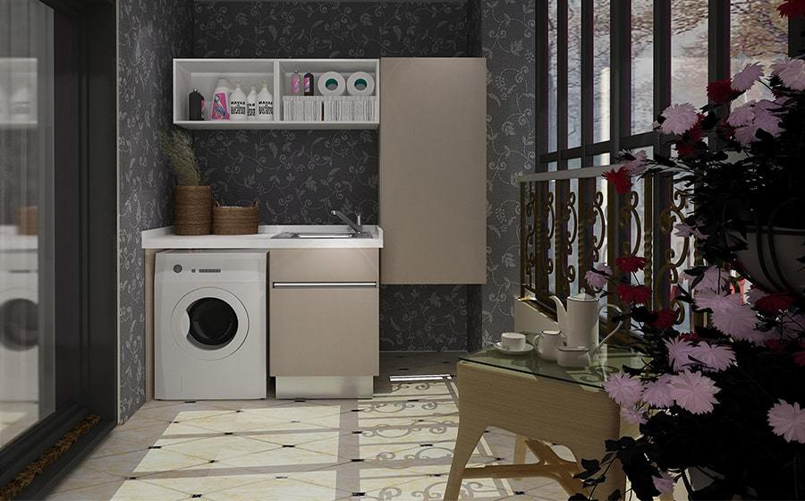 Fadior Stainless Steel Laundry Cabinet - BSYT04