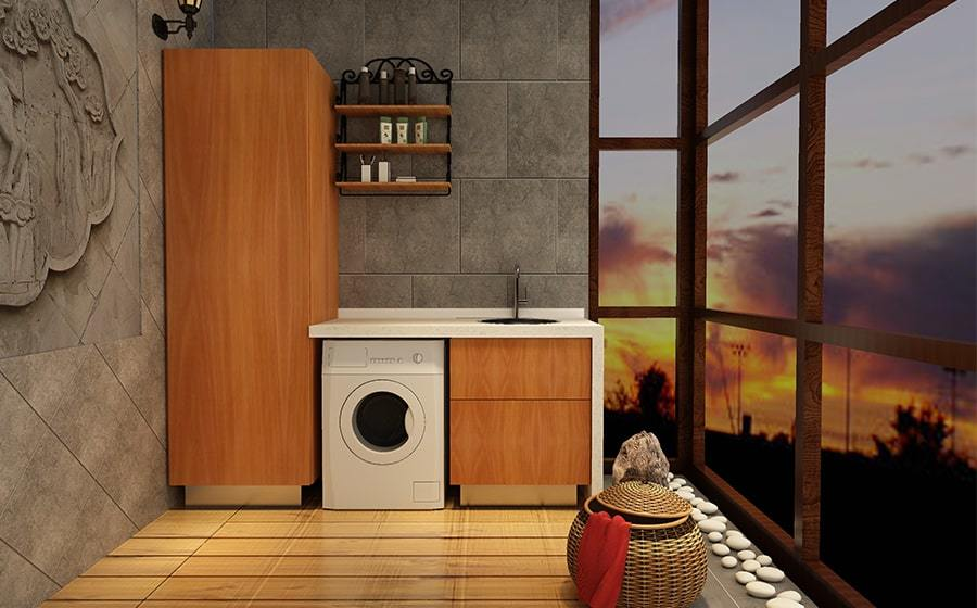 Fadior Stainless Steel Laundry Cabinet - BSYT01