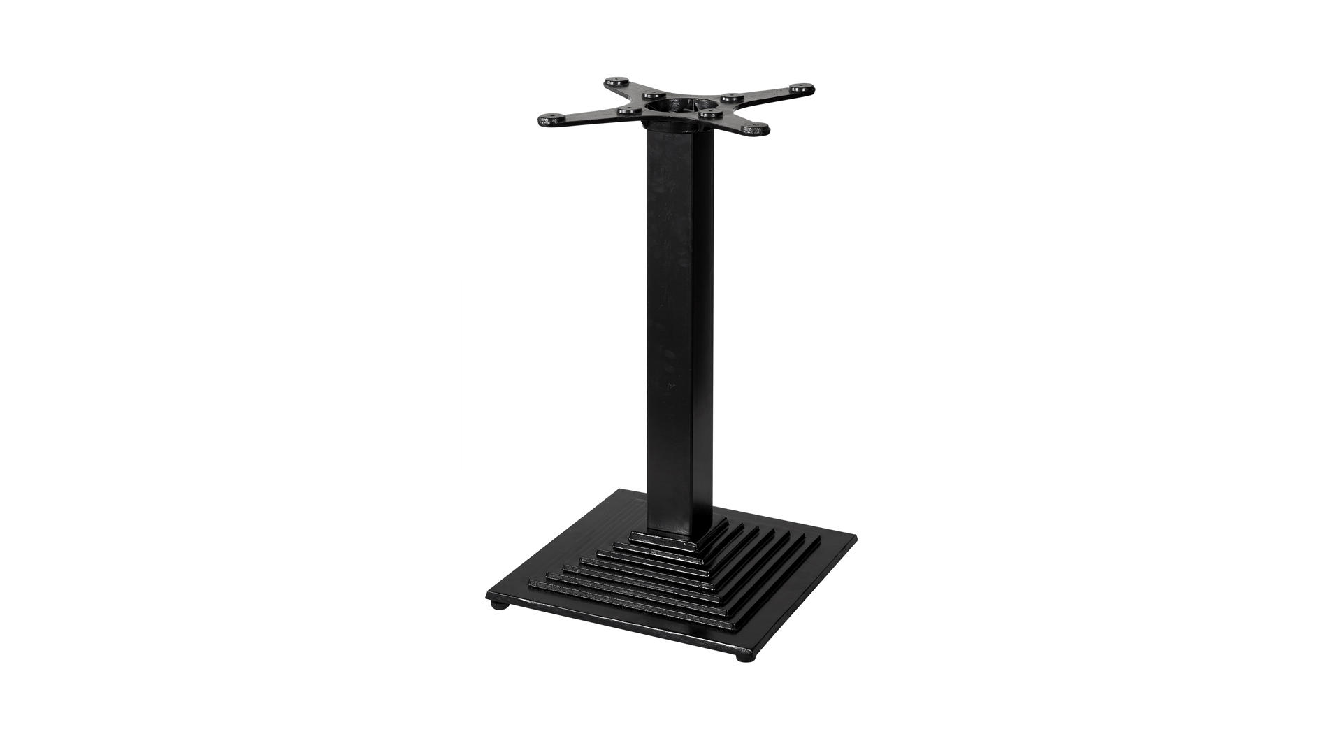 Pata de mesa de diseño francés estándar de estilo industrial negro mate TBIR-06