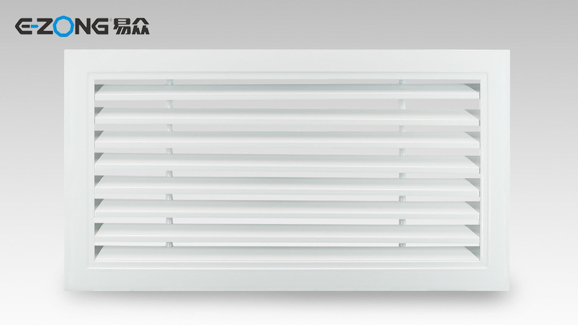 Open Hinged Air Return Grille PVC-001