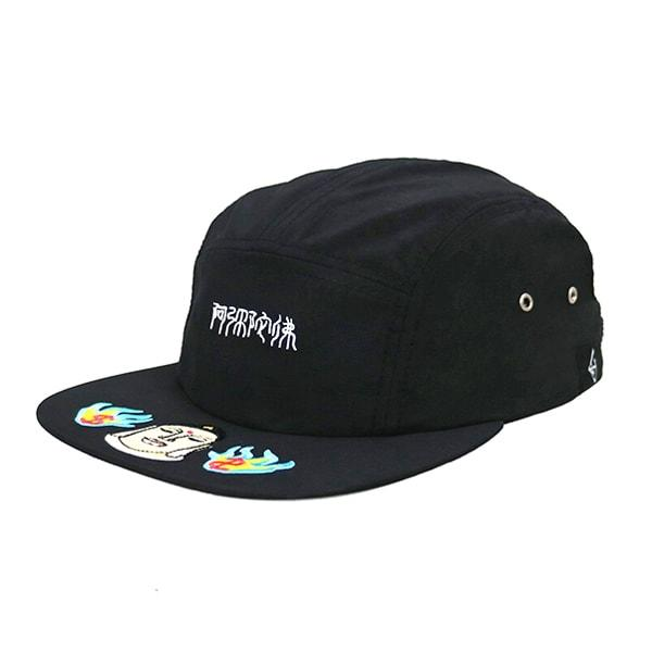 ACE Factory Summer Cotton Black Camper Hat With Embroidery Logo Custom Depend On Your Requirement