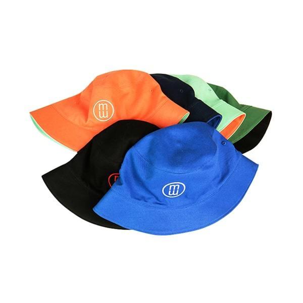 High Quality Two Sides Lady Blank Bucket Hat Custom Logo Organic Cotton Plain Orange Fisherman Bucket Hat Outdoor