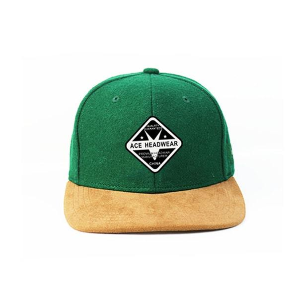 Flat Bill Snapback Cap Custom Hip Hop Woven Embroidery Patch Fitted Unisex Corduroy Hat