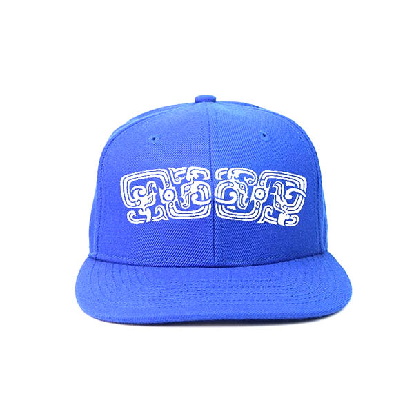 ACE Blue Hat Wholesale Snapback Hat Plain Colour Custom Made Snapback Hats With Plastic Buckle