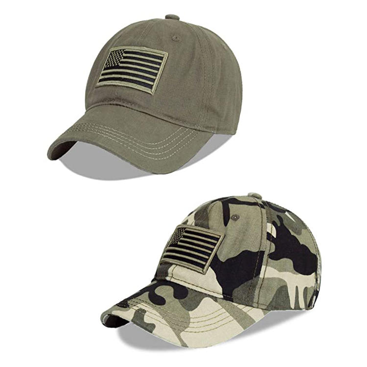 Men's Women's USA American Flag Polo Style Baseball Cap Embroidered Military Camouflage Hat