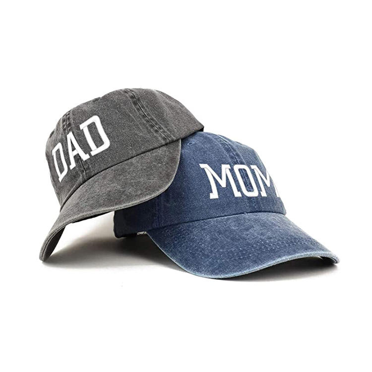 Capital Mom and Dad Pigment Dyed Couple 2 Pc Cap Set