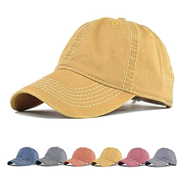 Vintage Unisex Dad Hats for Daily Adjustable Top Hats for Women Baseball Caps for Men Cotton Baseball Hats