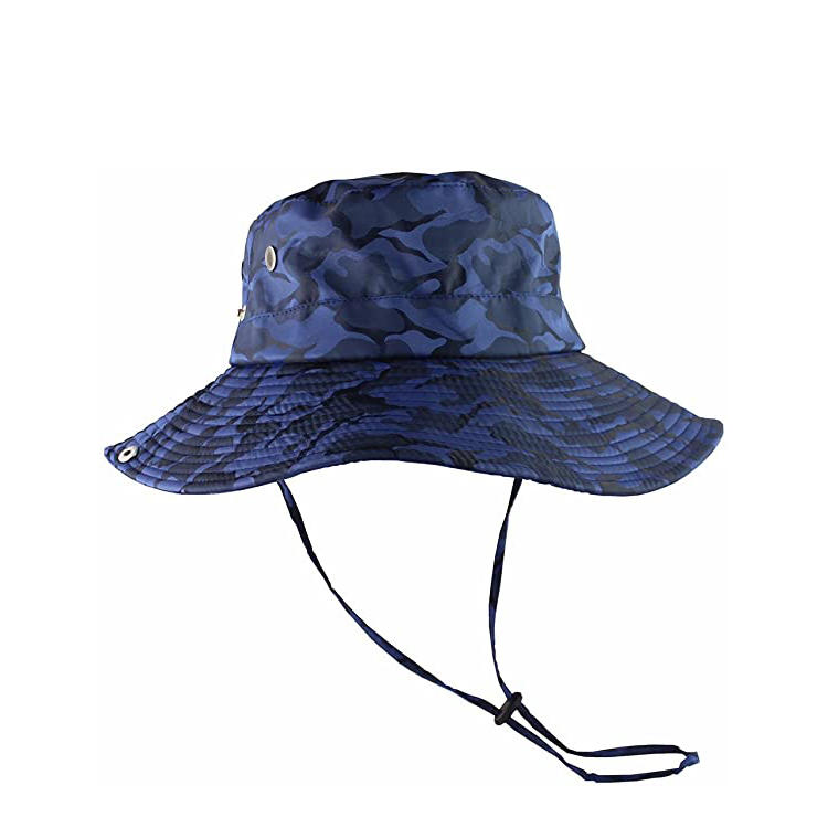 Breathable Wide Brim Boonie Hat Outdoor UPF 50+ Sun Protection Mesh Safari Cap for Travel Fishing