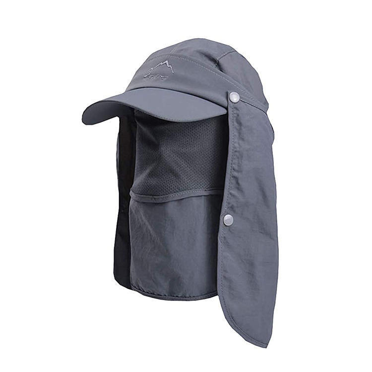 Fashion Outdoor UPF 50+ UV Sun Protection Waterproof Breathable Face Neck Flap Cover Folding Sun Hat for Men/Women