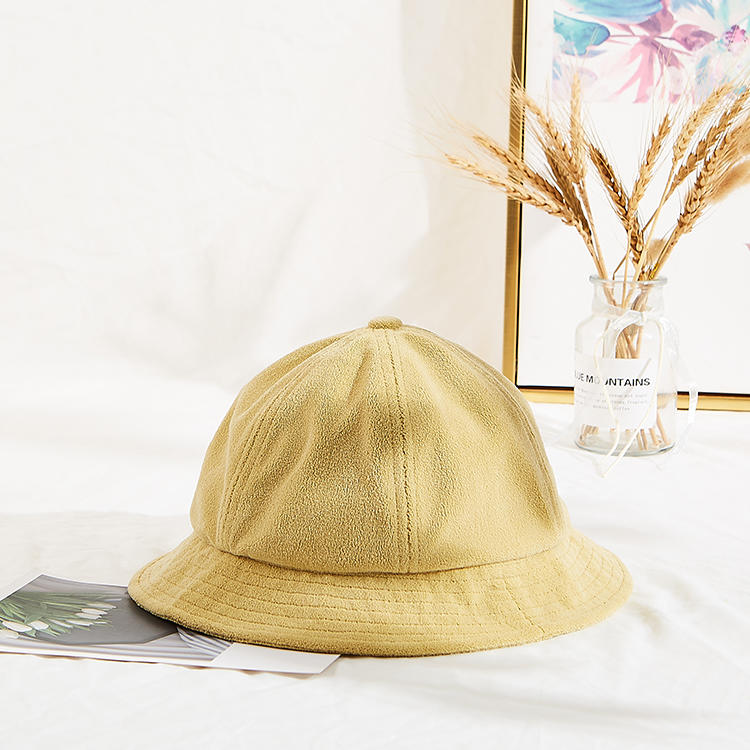 Unisex Terry Cloth Soft Fabric Winter Bucket Cap Character Style Fisherman Hat
