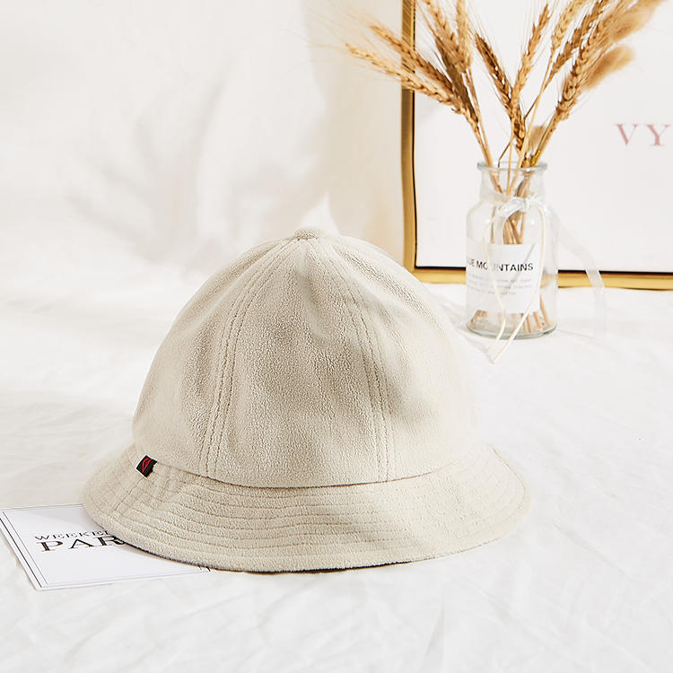 2021 New suede wide-brimmed fisherman hat double-sided Blank Embroidery disigner bucket hat