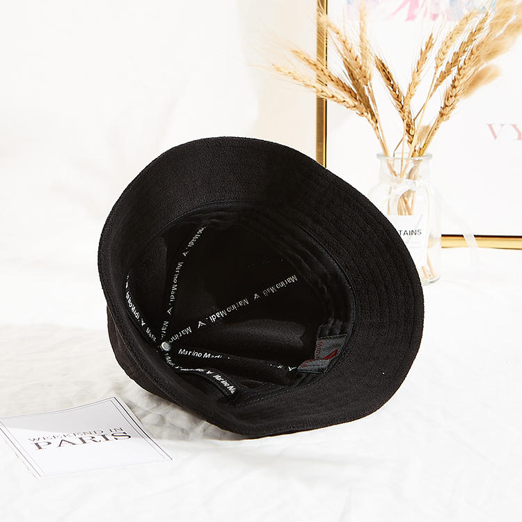High-end Unisex Terry Cloth Soft Fabric Winter Bucket Cap Character Style Fisherman Hat