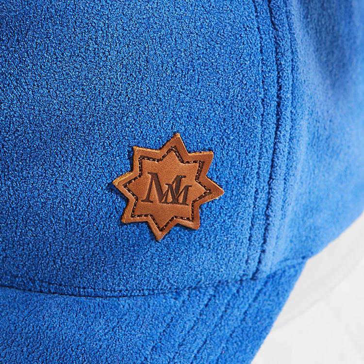 5% OFF Custom embroidered suede baseball cap with metal strap closure