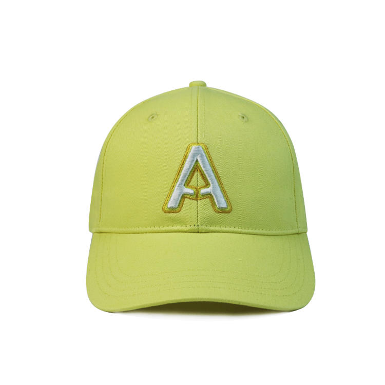 New style OEM 6 panel patch embroidery cotton baseball cap with letter
