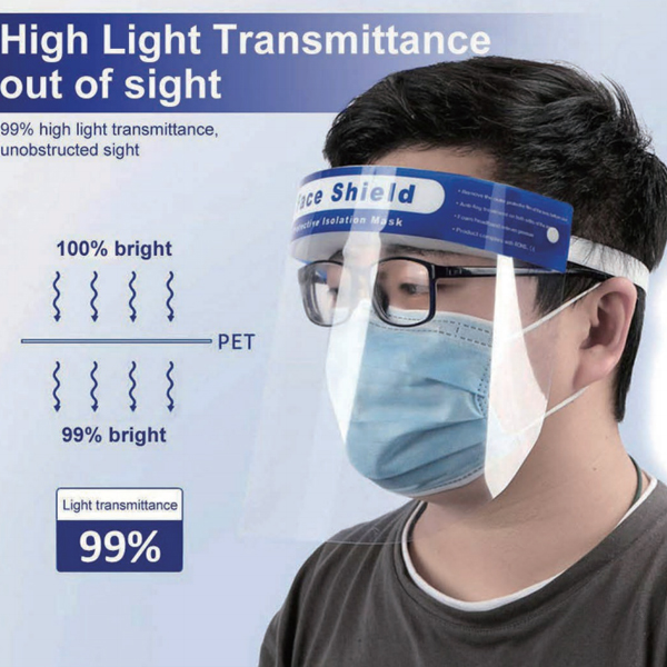 Display Head-Mounted PET Plastic Face Shield