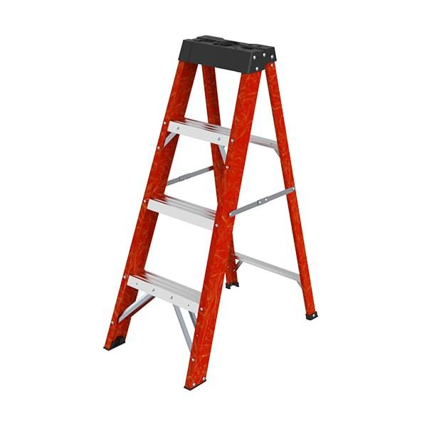 Fiberglass Ladder With Tool Tray WK7203-4C