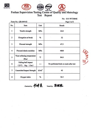 Synthetic Resin Roof Sheet Test Report P3
