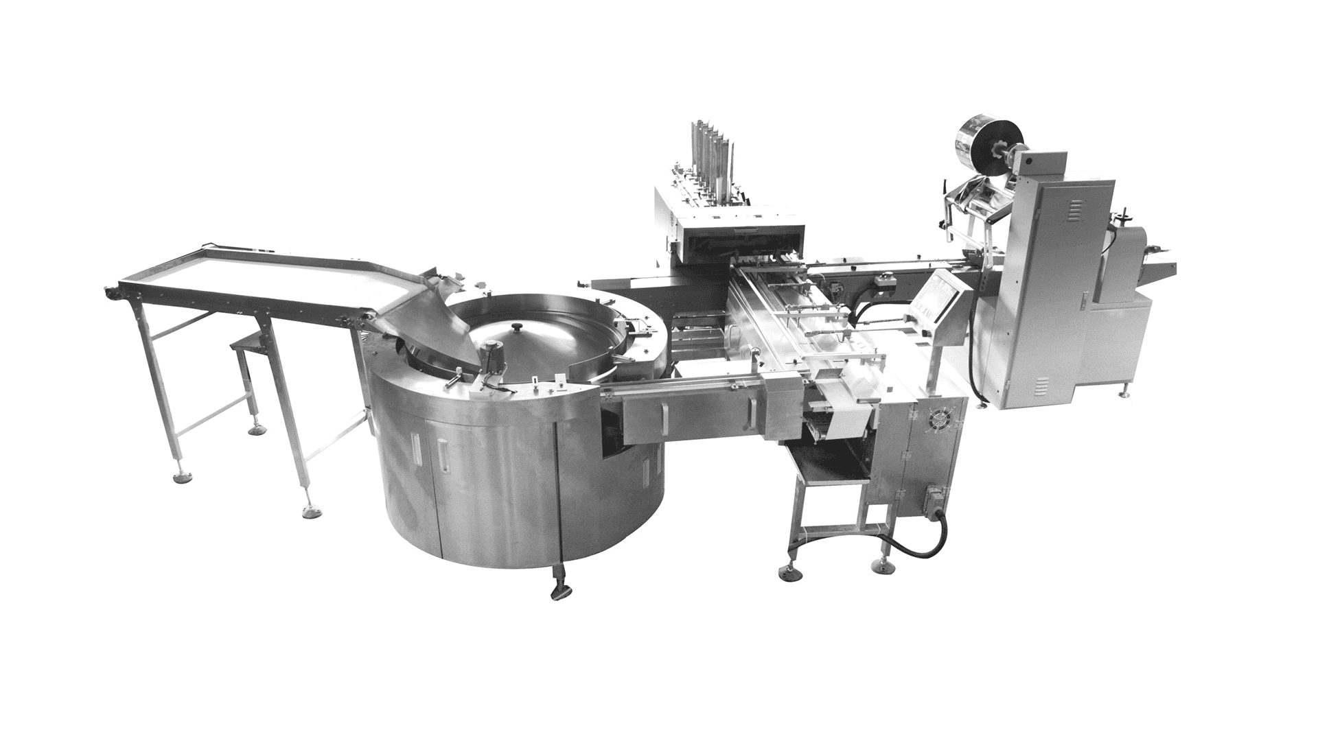 Rotating Plate with Tray Loading Feeding & Packing Line