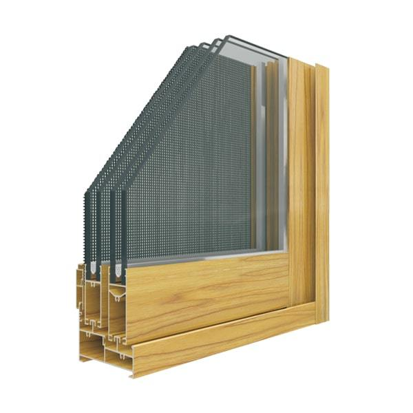 Aluminum XM88-110-118 Sliding Window With Fly Screen