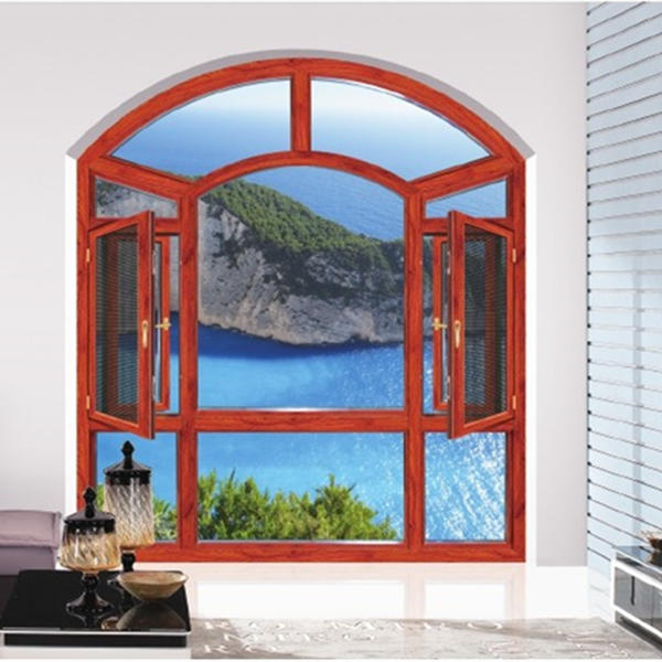 Aluminum XMGR108 Insulated Casement Window With Fly Screen