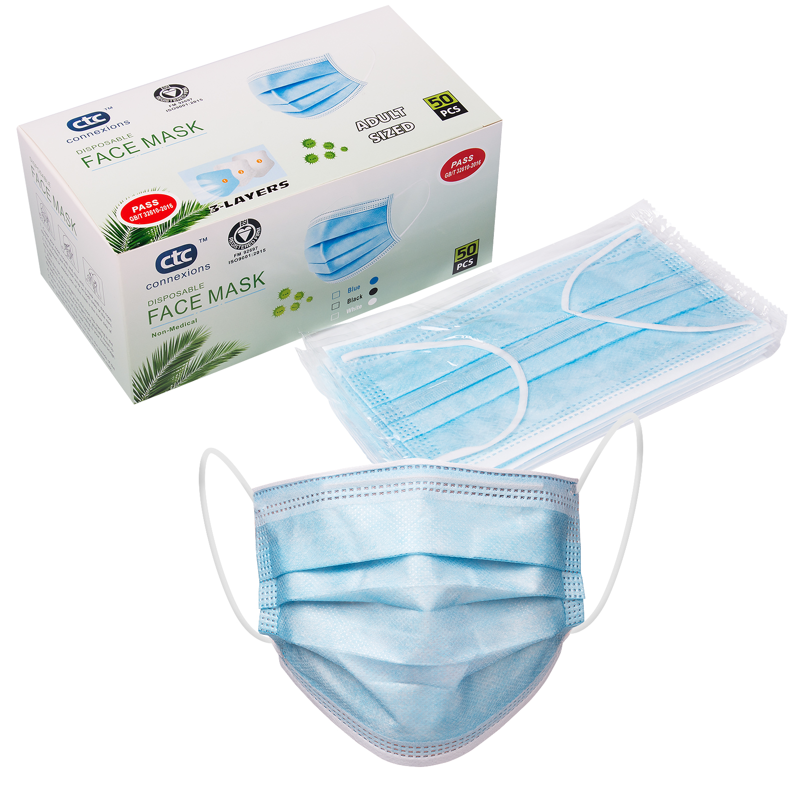 Disposable protective mask production line