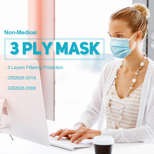 3Ply Disposable Protective Mask Blue Color
