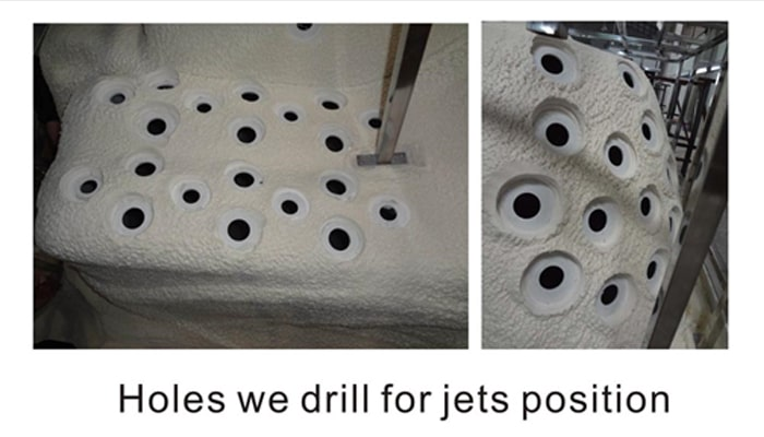 Nicely Drilled Holes for Jets Position