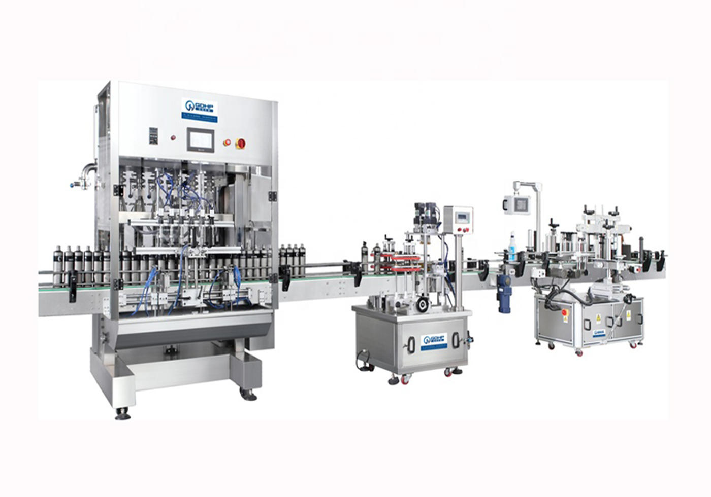 Automatic Liquid Wash Filling Capping Labeling Machine Production Line