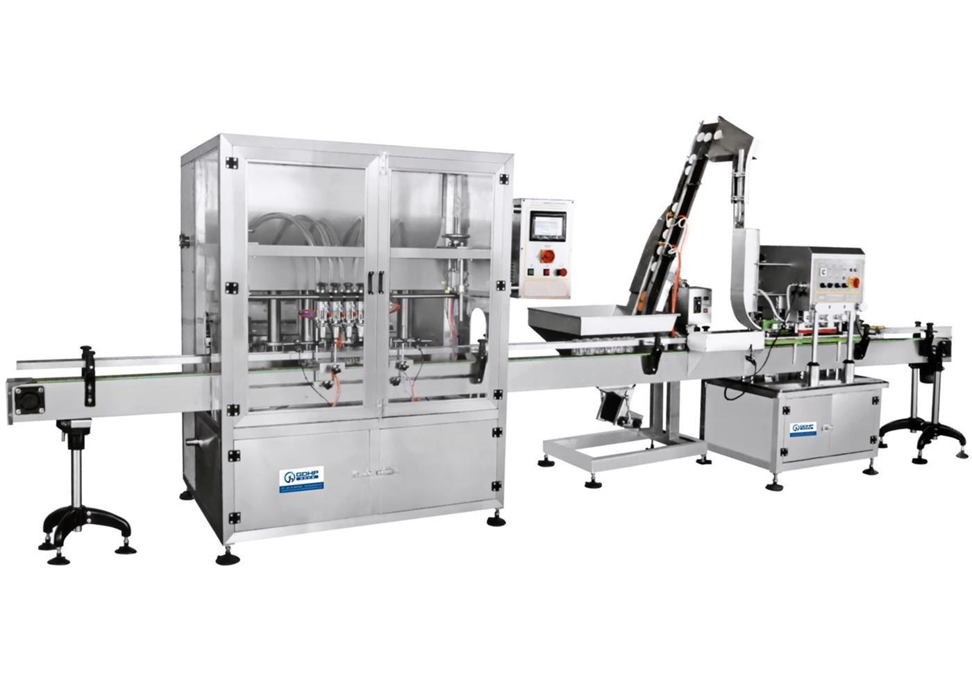 Auto bottle sauce/jam llliIng capping production line
