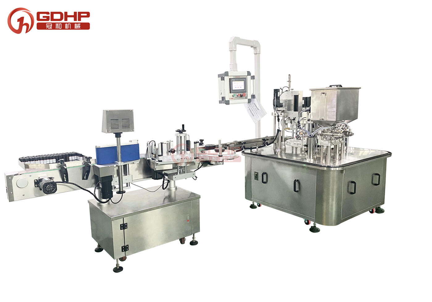 Automatic Dual-lane Pouch filling-capping machine
