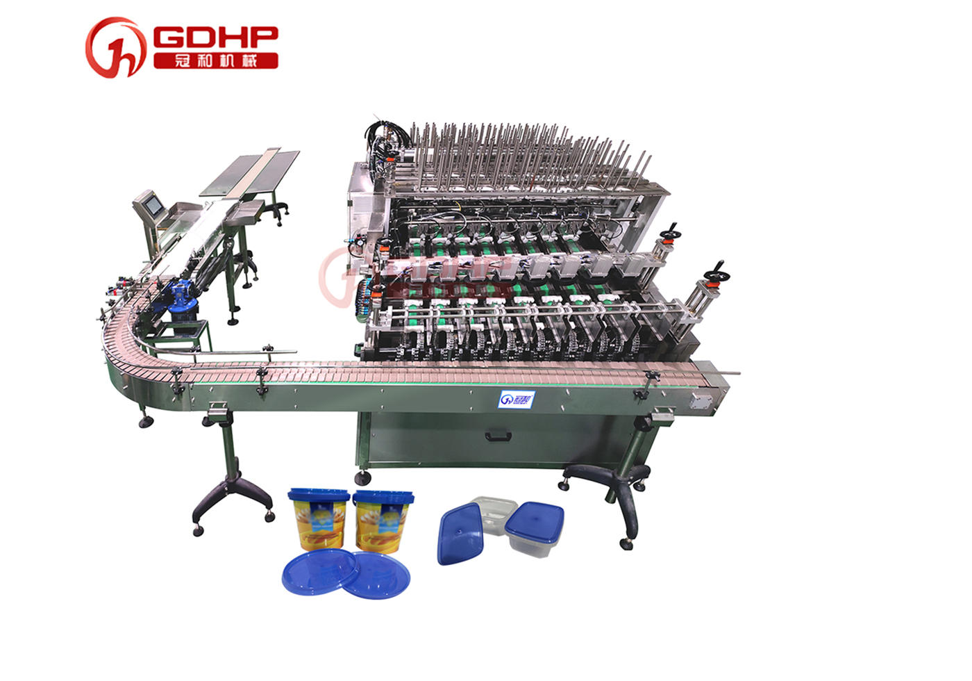 Auto 8-lane cup filling-capping machine (for premade cups)