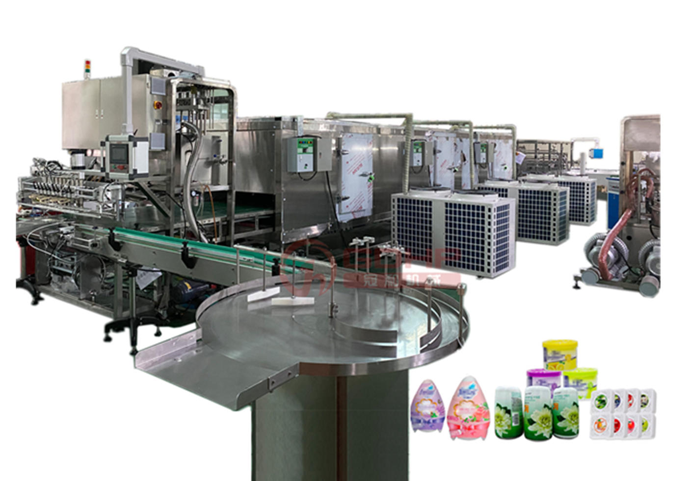 Cooling tunnel production line(balm & ointment production)