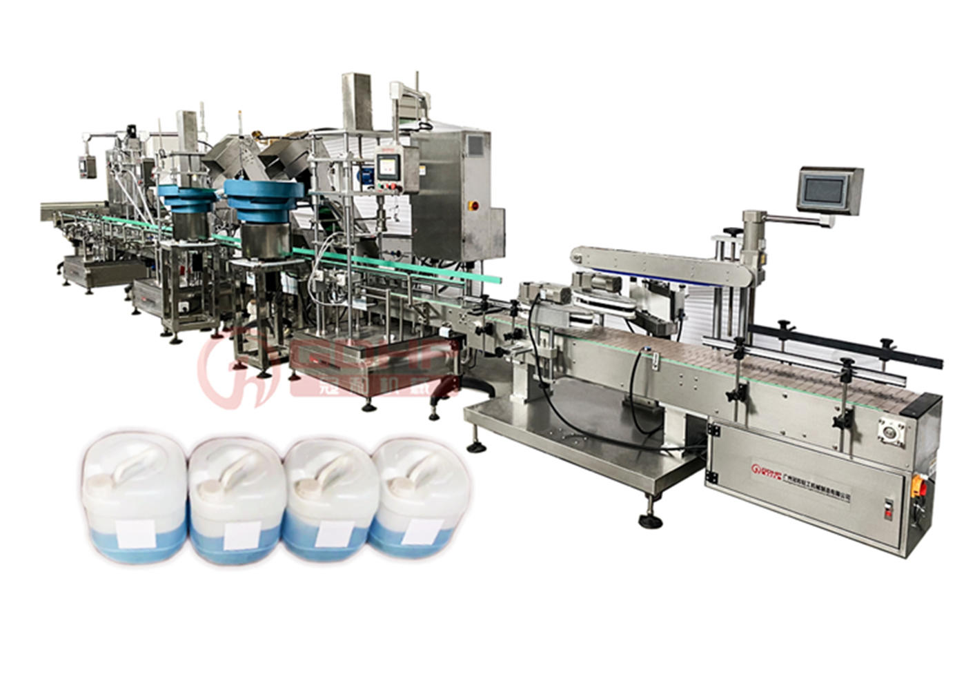 18L big bottle liquid filling and capping production line