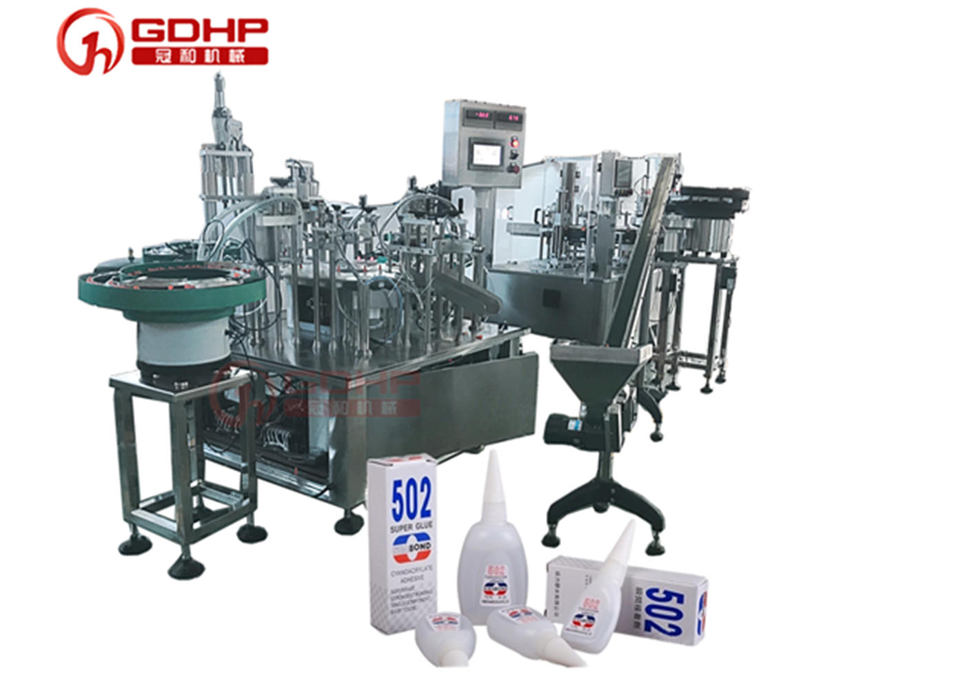 Automatic glue filling machine and packaging machine