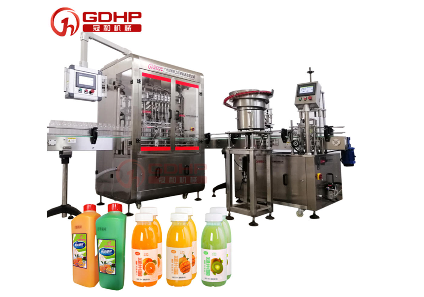 Fruit juice filling and capping production line