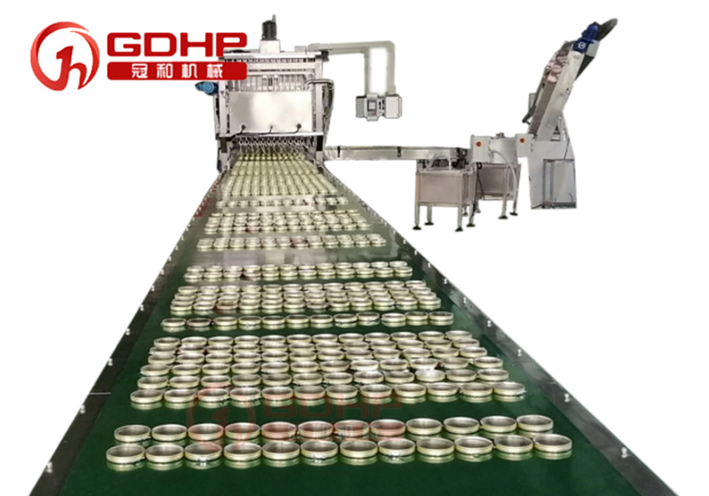 Shoe polish filling and closing production line