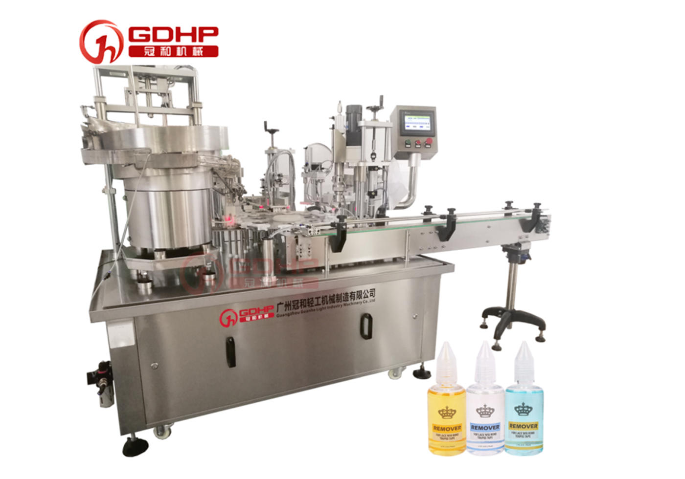 Glue filling and capping machine