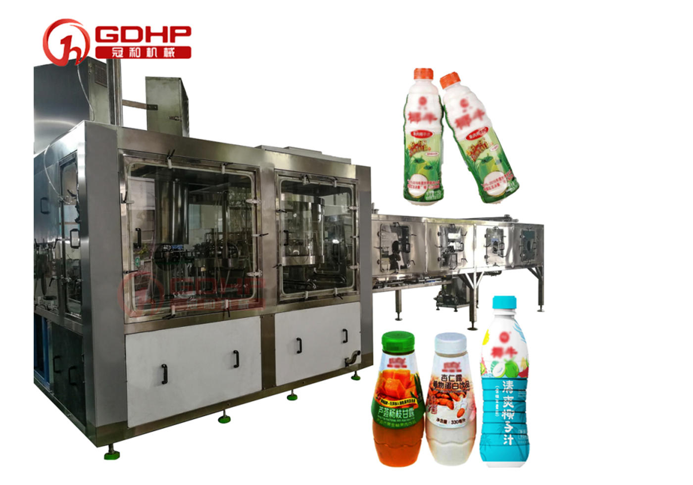 Pulp juice high-speed filling and sterilization production line