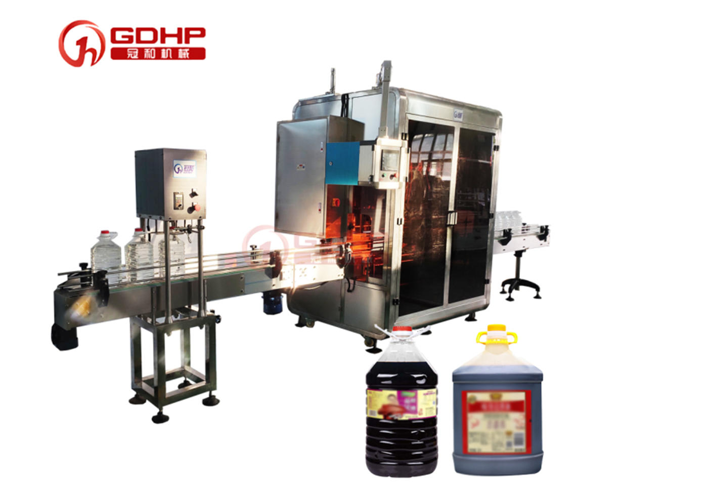 Soy sauce automatic filling and capping production line