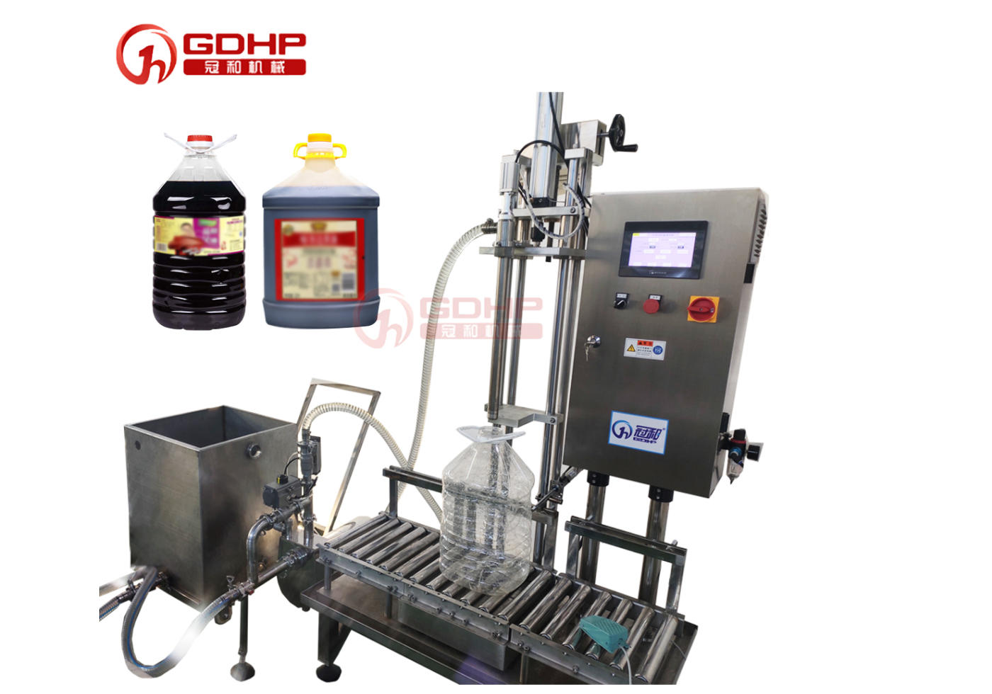 Soy sauce semi-automatic weighing and filling machine