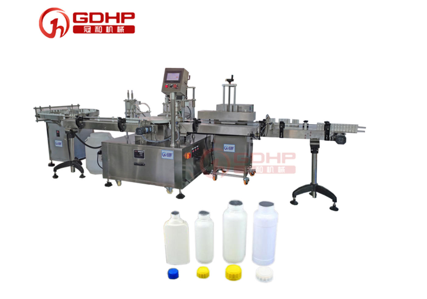 Automatic liquid filling capping and aluminum foil sealing production line